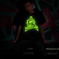 new 2014 desigual fluorescence men shirt hot brand casual rock shirt items fluorescence metallica
