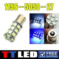 10 X P21W S25 1156 1157 BA15S BAY15D 27 SMD 5050 LED Auto Brake Turn signal Parking led bulb 12V White red blue yellow #TF05