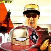 2013 new arrive running man  haha same paragraph Waterproof Iron Man Comic Character Cap free shipping