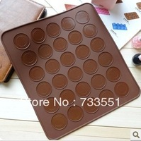 NEW Arrival 30 Cavity Donut Trendy Macaron Mat +100% Food Grade Silicone Macaron Decorating Silpat Mold and Baking Pan