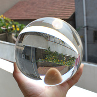 Freeshipping 5-20cm diameter clear crystal ball 80mm home and office decoration