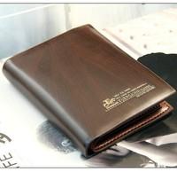 Men Wallets Carteiras Mini Wallet  Portefeuille  Monederos  Business  Luxury  Leather  Wallets Pockets Card Bifold Purse #2308