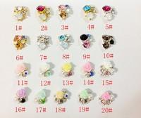100pcs/lot 3D Flower fake nails tips Rhinestone Decoration DIY nail jewelry alloy rhinestone free shipping PleaseNote Model