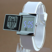Attack on Titan Slip Cover Watch Shingeki no Kyojin Scouting wristwatch Anime Free shipping