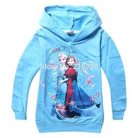 Free shipping Frozen children kids baby girl coat/Frozen kids jacket coat western style girl jacket/children clothing 4-10Years