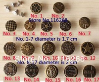 jean rivets and buttons buttons bronze Metal on Leather Clasp  jeans button Overalls buttons clothing for sewing craft