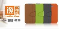 Hot selling Mofi leather case for Amoi N828  N820 N821 N850, original colorful high quality  Amoi N828 case+screen protector