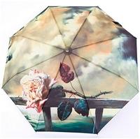 The Rose Cloud Painting Umbrella Anti UV Rain Folding Umbrella Fully Automatic Umbrellas For Women