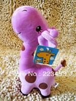 Cute Lovely Long Neck 65cm Giraffe Stuffed Plush Toy Doll  for Kids six colors for chose big plush animal 1pc free shipping 1pc