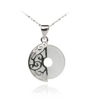 100% Guaranteed Genuine 925 Sterling Silver Jewelry Pendants With White Opal Gem Stone Jewelry YH2038