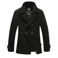 2014 New Mens Peacoat Winter Jackets For Men Trench Coat Wool Men's Jacket Warm Brand Jacket Windcheater Overcoat Winter coats