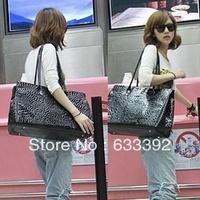 Female's Handbag Fashion Japanned Leather Handbag Women's Shoulder Bag Black Large Tote Free Shipping