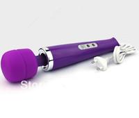 10 Speed Magic Wand Massager,AV Wand Vibrator,Electronic HandHeld Full Body Massager 110-250V,4 kinds of plug