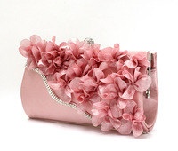 Rhinestone studded Appliques Evening Bag,Party Bag,Day Clutch,Bridal Bag,10 Colors,Free Shipping