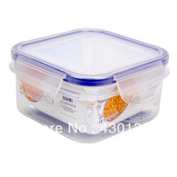 Free shipping Lock Lock 350ml refrigerator sealed crisper square-fashion plastic food box/container