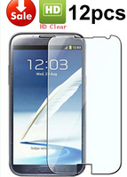 2014 12pcs Hot Sale Clear Screen Protector Skin Cover Guard For Samsung Galaxy Note 2 II N7100