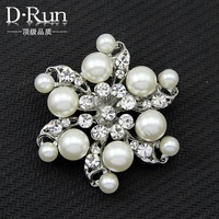 Fashion Cheap Jewelry Rhinestone Brooches For Wedding flower Crystal Brooch Pins  Aa004