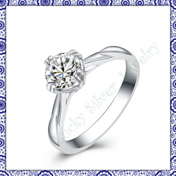 100% solid genuine 925 sterling silver engagement rings for women  CZ for womens' retail & wholesale DHL free shipping