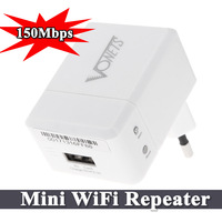 Hot Sale Discount Network Tool 150Mbps VRP150 Mini WiFi Wi Fi Signal Repeater 3G Wireless Router Adapter 2.1A Charger + EU Plug
