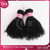 Peruvian Virgin Human Hair Weft/Extension, Kinky Curly  Peruvian Virgin  Hair natural color