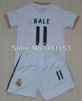 bale 11# real madrid soccer football jersey kits for kids / children
