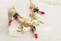 Fashion accessories lipstick lady pearl bracelet opening bracelet female vintage accessories hand ring