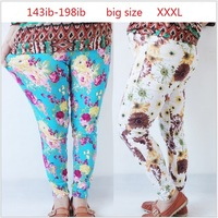 Free shipping 2013 autumn women's fashion plus size leggings, fat woman big size print flower pattern legging large sizes XXXL