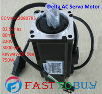 Delta AC Servo Motor B2 Series ECMA-C20807RS 80mm 220V 3000rpm keyway/Oil Seal 750W New