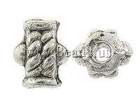 Free shipping!!!Zinc Alloy Jewelry Beads,2013 new european and american style, Nuggets, antique silver color plated, nickel