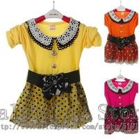 Baby Girls Dress Long Sleeve Flower Princess Dress Children Spring Autumn Clothing Free Shipping