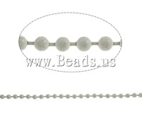 Free shipping!!!Iron Ball Chain,Women Jewelry, electrophoresis, white, nickel, lead & cadmium free, 3.2mm, 50m/Lot, Sold By Lot