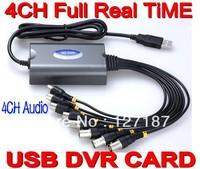 Full D1 realtime 4CH H.264 CCTV 960H DVR/ USB DVR Video capture Card  mobile views For Windows XP/Vista/7 32bit /64bit PC/Laptop
