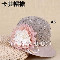 Top quality ladies outdoor travelling beautirul polyester bucket hat women fashion flower fishing hats