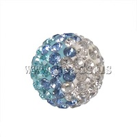 Free shipping!!!Rhinestone Clay Pave Beads,Korea Jewelry, Round, with rhinestone, 12mm, Hole:Approx 2mm, 10PCs/Bag, Sold By Bag