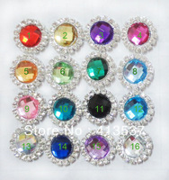 Free Shipping 16mm  Gem Acrylic Rhinestone Button Flatback wholesale ,60pcs/lot