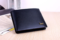 Horizontal commercial multi card holder genuine leather cowhide male wallet short design wallet