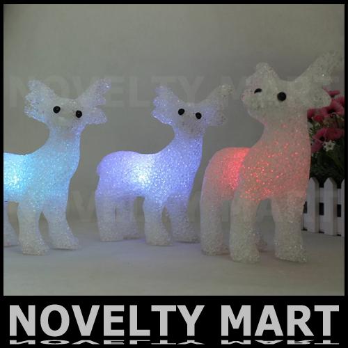 2013 Christmas Deer LED Lighting Decoration Christmas Gift Present Small Colorful Night Lamp Free Shipping(China (Mainland))