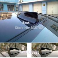 New 1pcs Universal Fit Auto Car Shark Fin Dummy Antenna Decorative LED Light Black Adhesive Aerial FREE SHIPPING