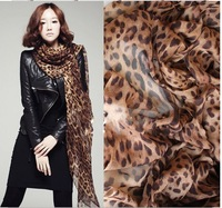 2014 New Women's Fashion special leopard printed Design chiffon georgette silk like scarf/ shawl!