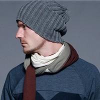 2013 Autumn and winterFashion male bars autumn and winter knitting hat beckham fashion man fashion accessories 1pc