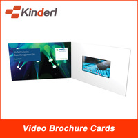 5.0 inch LCD Screen video brochure cards for presentations, invites, direct marketing advertising and promotions