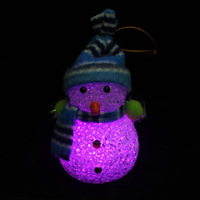 Crystal Snowman 2013 New Christmas Gift Holiday Present LED Night Light Xmas Ornaments Creative Chrismas Toys Decoration