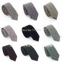 Free shipping 2014 New Korean men wool tie casual tie narrow boy tie male