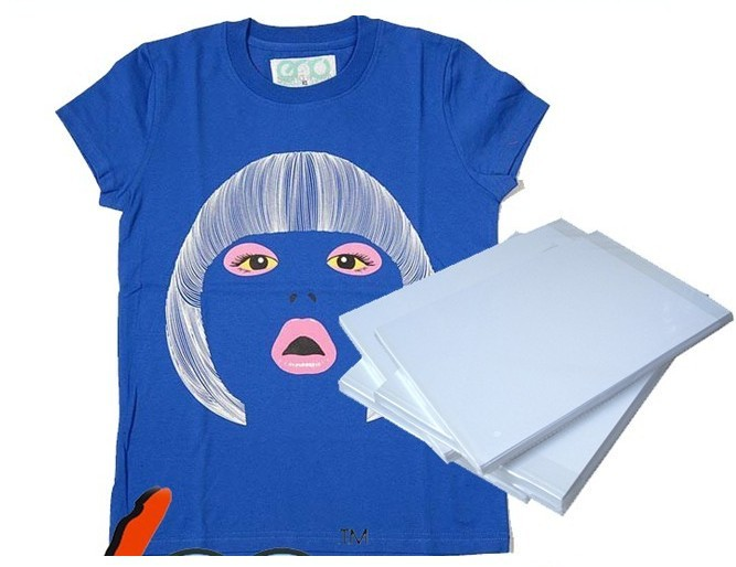 Dark color A3 T Shirt Transfer Paper Tshirt Inkjet Iron On Heat T shirt transfer paper SUBLIMATION paper FOR HEAT PRESS MACHINE(China (Mainland))