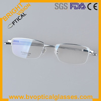 TOP QUALITY half rim 2014 new model optical glasses in stock (9179)
