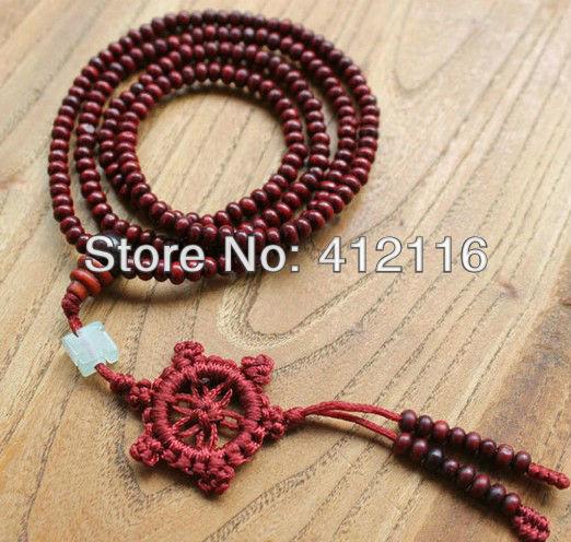 Grátis frete por atacado 50 pçs/lote vermelho e verde Sandalwood pulseiras moda budista estilo tibetano oração Mala Beads para as mulheres(China (Mainland))