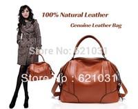 Free Shipping 100% Real Leather Bag!!! 2013 New Fashion Women Leather Bag Brand Ladies Designer Top Quality VintageShoulder Bag