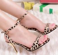 Sandals & Flip Flops Sexy Sandals Pump Sandals Leopard Print Sandals Sexy Heels Red Bottom High Heels Women Size 10 Shoe 33-43