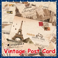 [FORREST SHOP] High Quality Vintage Style Poster Post Card Set / Greeting Postcards/ Gift Cards/Christmas Card/Postcard Gift