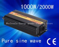 Free shipping!dc12v 24v 48v to ac100v 110v 120v 220v 230v 240v 50Hz/60Hz 1000W Pure Sine Wave Off Grid Power InverterCP-P-1000W)